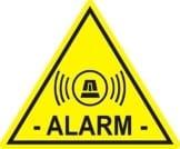 """5 Stück Aufkleber """"Alarm"""", iSecur, alarmgesichert, 5x4cm, Art. hin_066_innen, Achtung, Vorsicht, Hinweis auf Alarmanlage, innenklebend für Fensterscheiben, Haus, Auto, LKW, Baumaschinen -"""