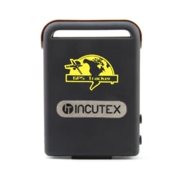 Incutex GPS Tracker TK104 Peilsender Personen und Fahrzeugortung GPS Sender mit KFZ-Ladekabel Autoladekabel Version 2017 -
