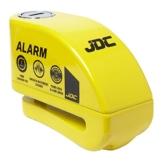 JDC Motorrad Bremsscheibenschloss ALARM - JAWS - Gelb -