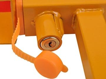 Radkralle Parkkralle Wegfahrsperre Diebstahlsicherung Reifenkralle PkwAnhänger -