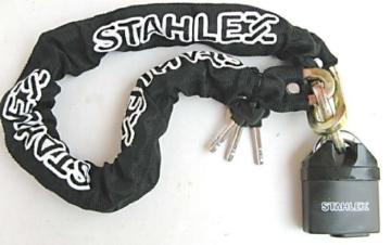 starkes MOTORRADSCHLOSS KETTENSCHLOSS+3 Schlüssel 0,9 o. 1,5m PANZERSCHLOSS 905 (150 Zentimeter) -